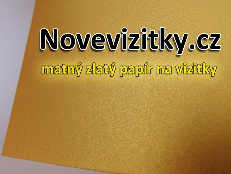 matný zlatý papír na vizitky